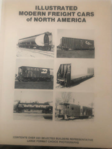 BK180  ILLUSTRATED MODERN FREIGHT CARS of NORTH AMERICA