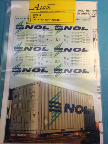 #25819 - NOL 20 & 40 ft (White Containers - does 5)