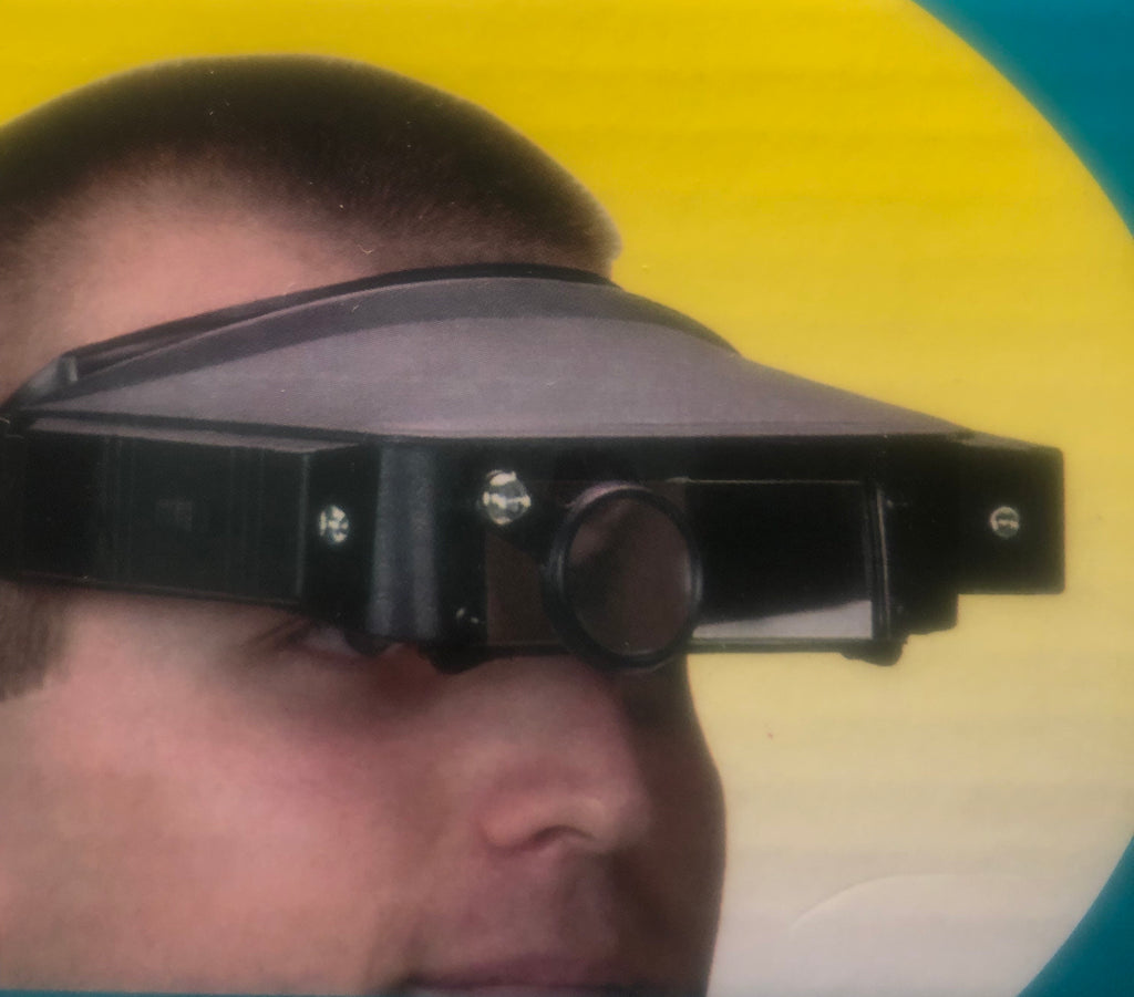 #HT-100 - Headstrap Magnifier with 4 Lenses and Light