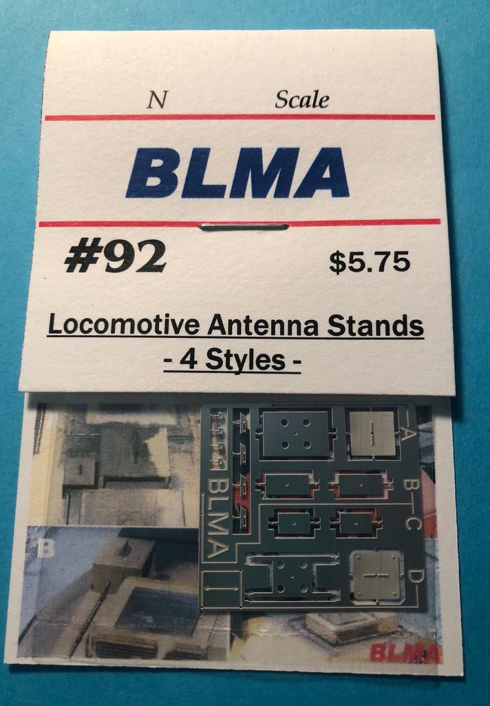 BLMA-92 Locomotive Antenna Stands  (N-SCALE product)