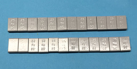 "#13003 - 24 ea Steel 1/4 oz pieces (1/2"" x 3/4"" x 5/32"")"