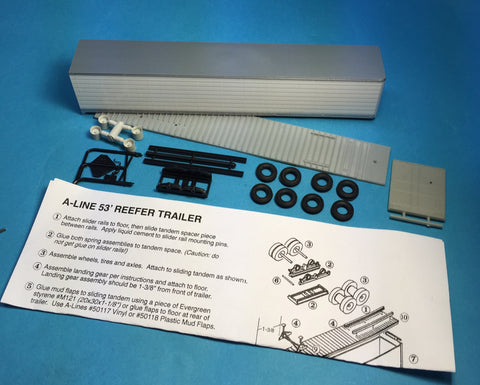 "#50507 -S 53"" Reefer Trailer Undecorated ( No Decals)"