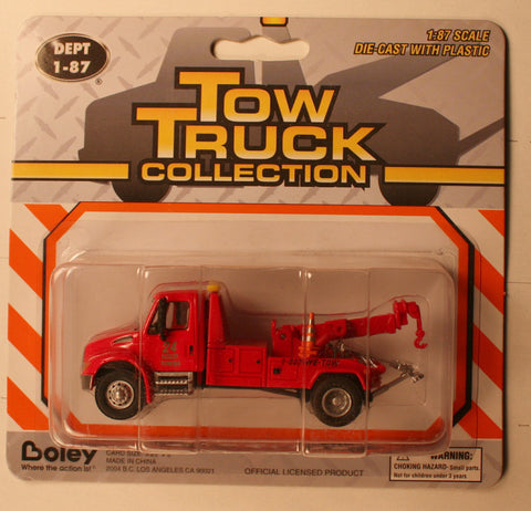 Bol-4135-11     International cab    Tow truck   Boley Depart. 1-87 vehicles (red)