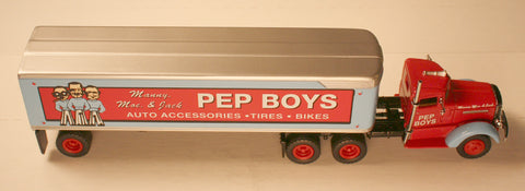DCM   PEP Boys  Tractor/Trailers by Matchbox  diecast HO scale