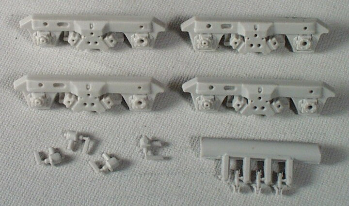 "#R161 - GP40X ""HTB"" Sideframes (Set of 4) - Fits Athearn EMD Blomberg trucks, F7 type"