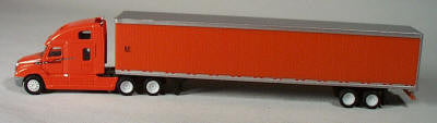 "#T-713  		 Freightliner Columbia ""Schneider"" tractor with 53' box trailer"