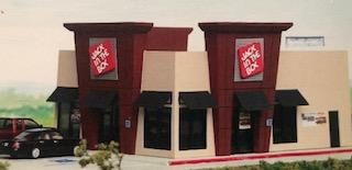 #AJB - Jack in the Box Restaurant Kit HO Scale