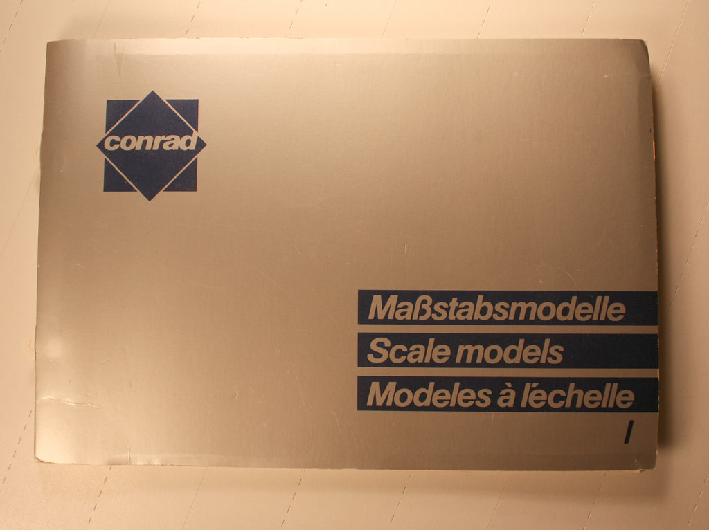 BK200      Conrad die cast model catalog Vol -1  (MaBstabsmodelle Vol.1)