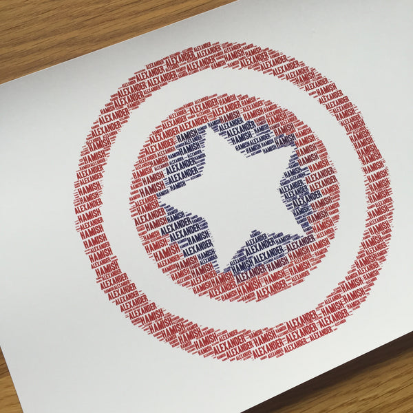 CAPTAIN AMERICA Name It Print