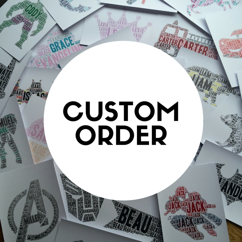 Custom Order Name It Print