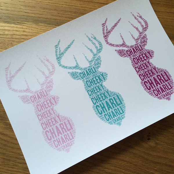 DEER BUST TRIO Name It Print