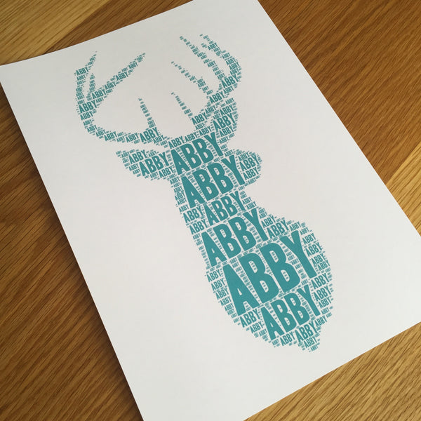 DEER BUST (SINGLE) Name It Print