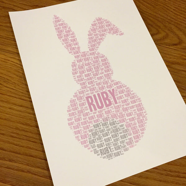 BUNNY RABBIT Name It Print