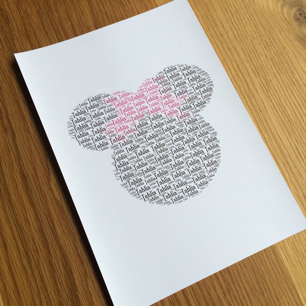 MINNIE MOUSE Name It Print