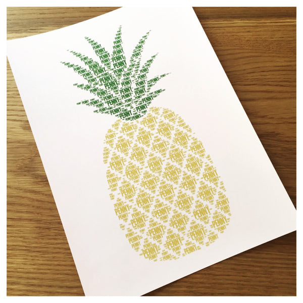 PINEAPPLE Name It Print