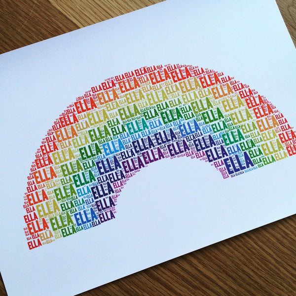Rainbow Name It Print