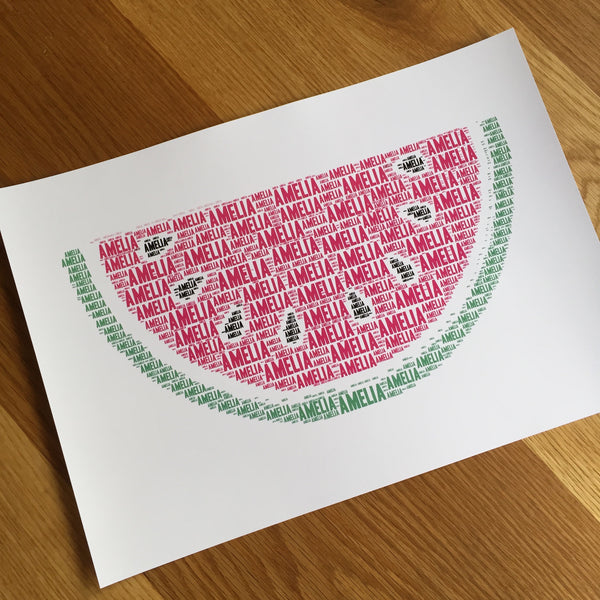 Watermelon (PINK)  Name It Print