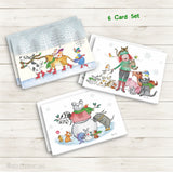 Red & Howling Holiday 6 Card Set - Red and Howling