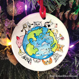 "Christmas Ornament: ""We are All Connected: Around the World"""