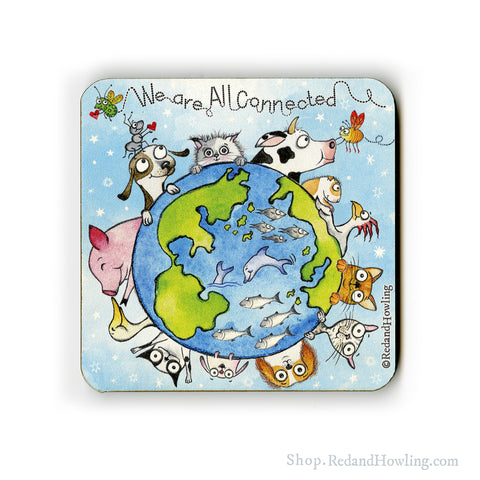 """We are All Connected: Around the World"" Coaster"