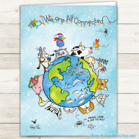 """We are All Connected: Around the World"" Holiday 4 Card Set"