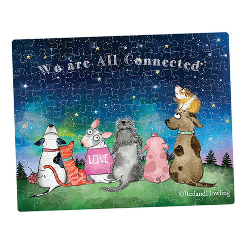 """All Connected"" Collectible Mini Puzzle - Red and Howling"