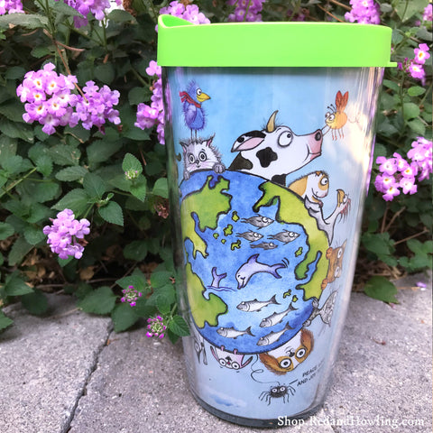 "Travel Mug -""We are All Connected: Around the World"" Special Holiday Edition"