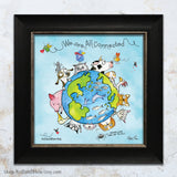 """We are All Connected: Around the World"" Mini Art Print"