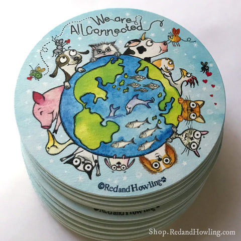"""We are All Connected: Around the World"": Paper Coaster SET"