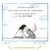 "Custom Print: ""My Best Friend: Cat"" Archival/Signed Giclée"