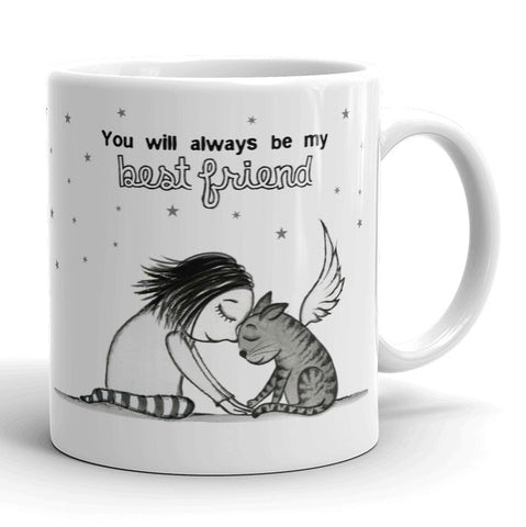 Best Friend: Cat mug - Red and Howling