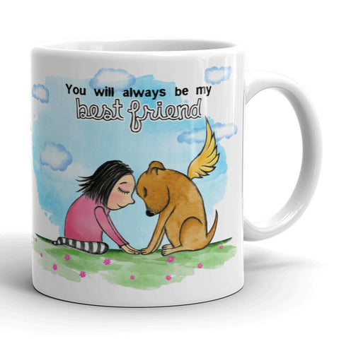 Best Friend: Dog mug - Red and Howling