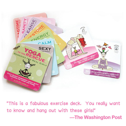 Yoga to the Rescue yoga deck - Red and Howling