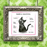 """Black Cat"" Archival Giclée Print - Red and Howling"