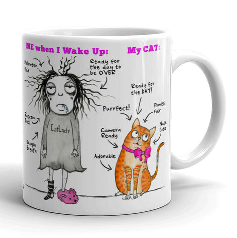 My Cat is Perfect mug - Red and Howling
