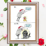 """Cutest"" Archival Giclée Print - Red and Howling"
