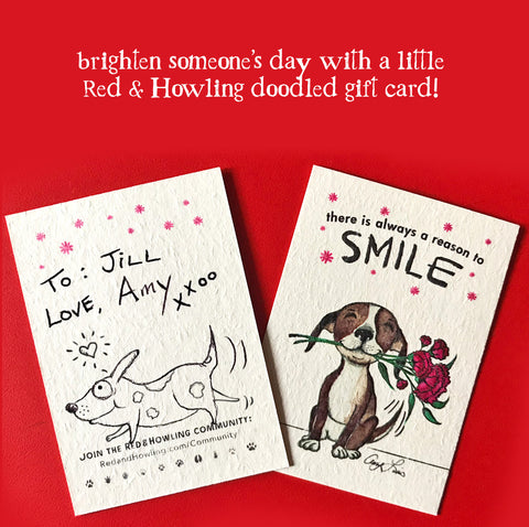 Custom Gift Enclosure Card (limited quantity available) - Red and Howling