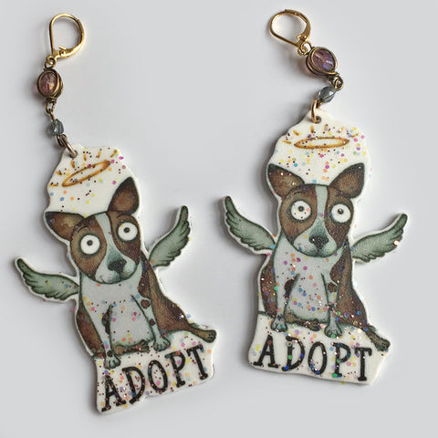 Adopt Earrings - Red and Howling