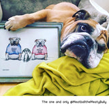 DONATION Print: Bulldog Smile Archival Giclee Print - Red and Howling