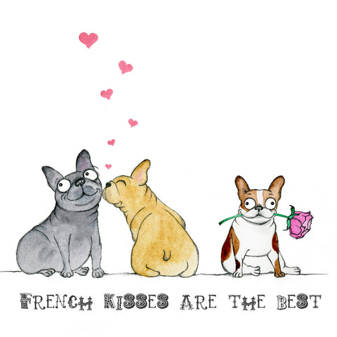 Donation Print: French Kisses are the Best! - Red and Howling