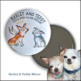 Donation Print: Harley & Teddy Archival Giclée Signed Print, Mirror, & Pins - Red and Howling