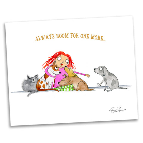 "DONATION Print:  ""Always Room for One More"" (Archival & Signed Giclée)"