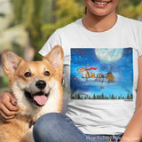 """Broom Ride with Friends"" T-Shirt - Red and Howling"