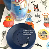 "Travel Mug -""Broom Ride with Friends"" Special Halloween Edition - Red and Howling"
