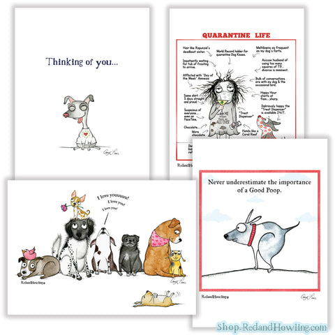 """Humor"" Greeting Card Set"