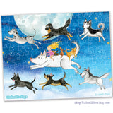 """Running with the Pack"" Collectible Mini Puzzle"