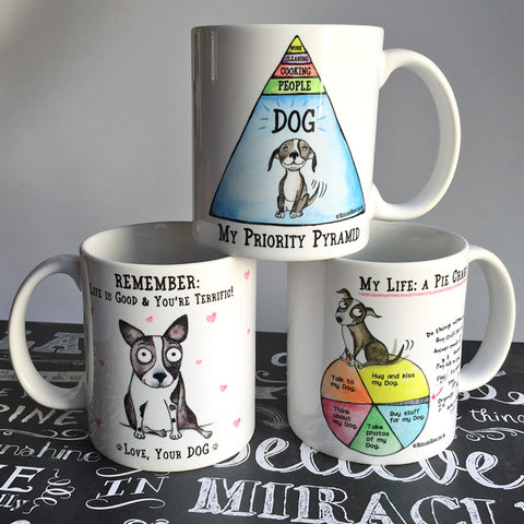 Dogmania! mug trio (3-pack) - Red and Howling