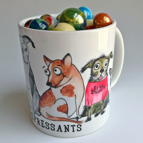 Antidepressants mug - Red and Howling