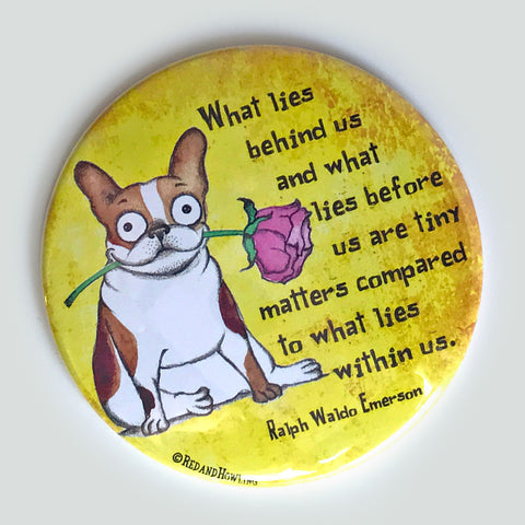 What Lies Within Us Magnet - Red and Howling