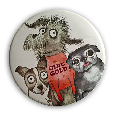 Old is Gold Magnet - Red and Howling